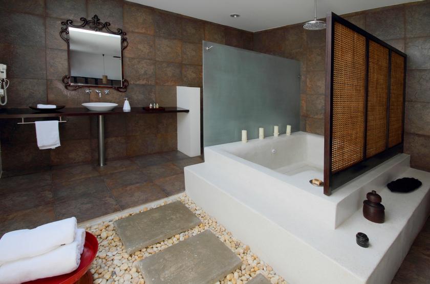 Casa Harb Hotel Boutique, Ile de Saint Andrès, Colombie, salle de bains