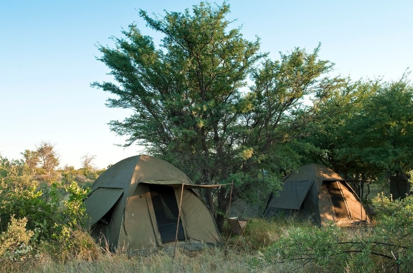 Deception Valley Adventurer Camp, Kalahari, Botswana, tente