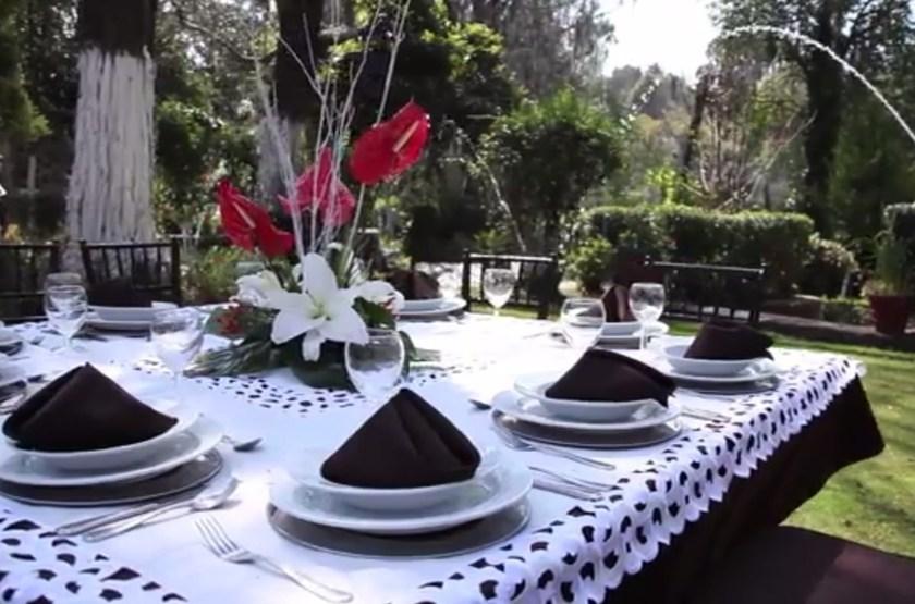 Hacienda San Miguel Regla, Mexique, jardin