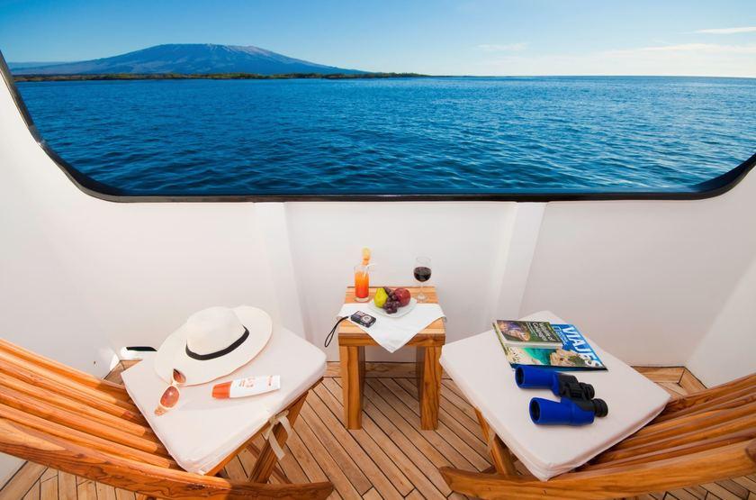 Catamaran Ocean Spray, Galapagos, Equateur, terrasse