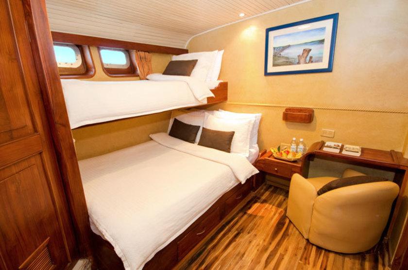 Yacht Galaven, Galapagos, Equateur, cabine