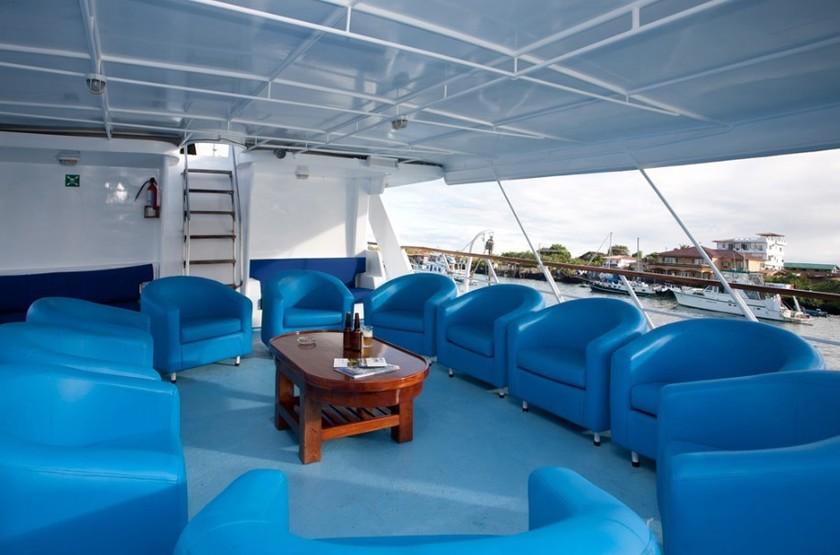 Yacht Galaven, Galapagos, Equateur, salon