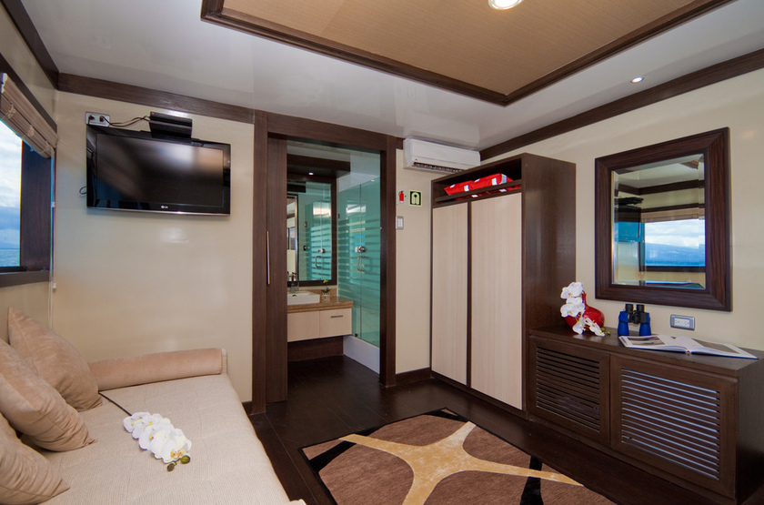 Yacht Grand Odyssey, Galapagos, Equateur, cabine