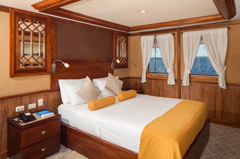 Yacht Grace, Galapagos, Equateur, cabine
