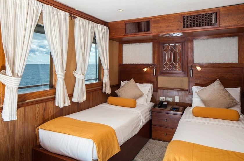 Yacht Grace, Galapagos, Equateur, cabine twin