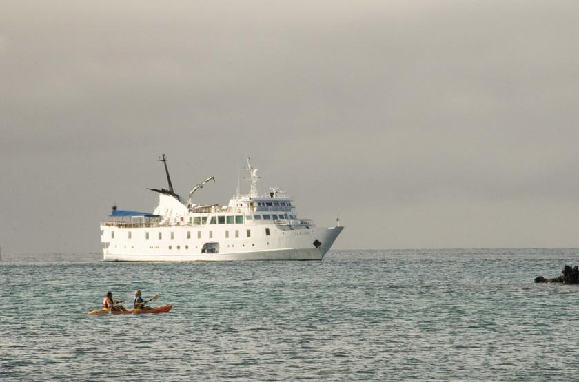 Yacht La Pinta, Galapagos, Equateur, bateau