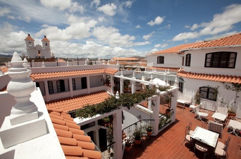 De Su Merced, Sucre, Bolivie, terrasse