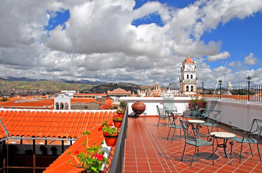 Parador Santa Maria La Real, Sucre, Bolivie, terrasse