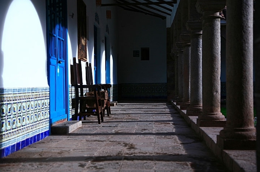 lléeSan Agustin Monasterio Recoleta, Vallée Sacrée, Pérou, arcades