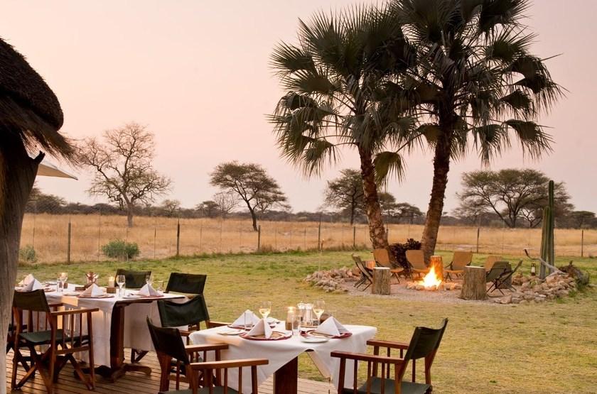 Onguma Bush Camp, Namibie, dîner