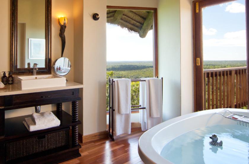 Ulusaba Sir Branson's Lodges, Sabi Sand, Afrique du Sud, salle de bains