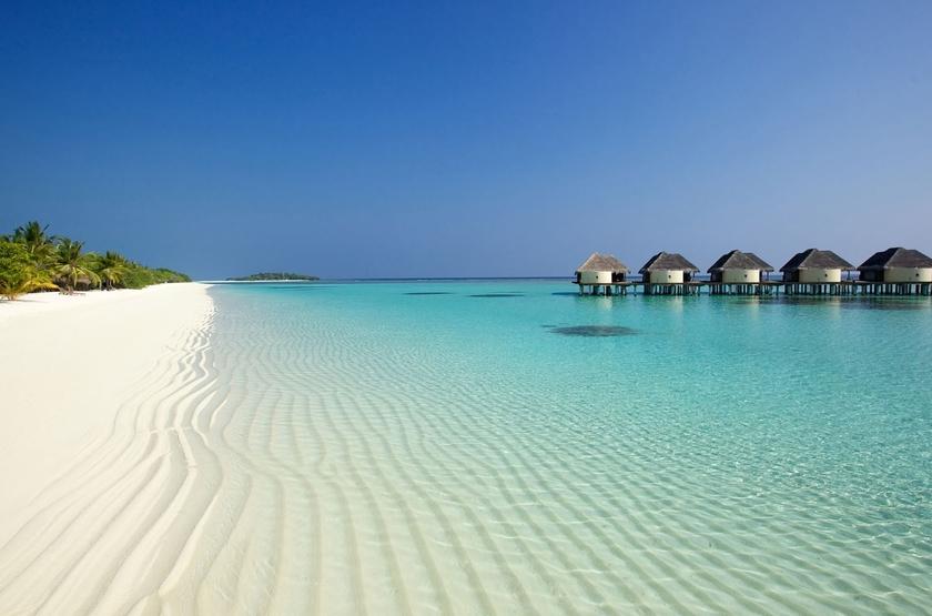 Kanuhura Hotel, Maldives, plage et villas