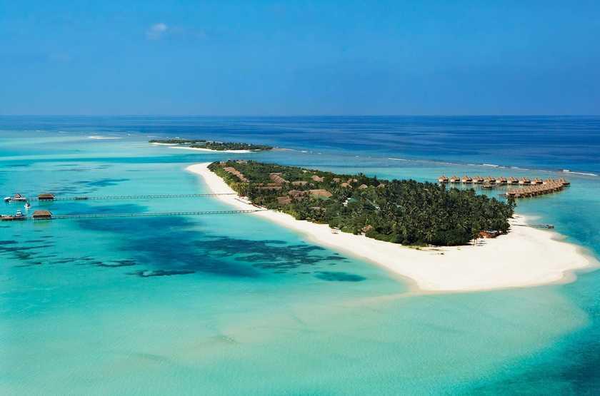 Kanuhura Hotel, Maldives, vue aérienne
