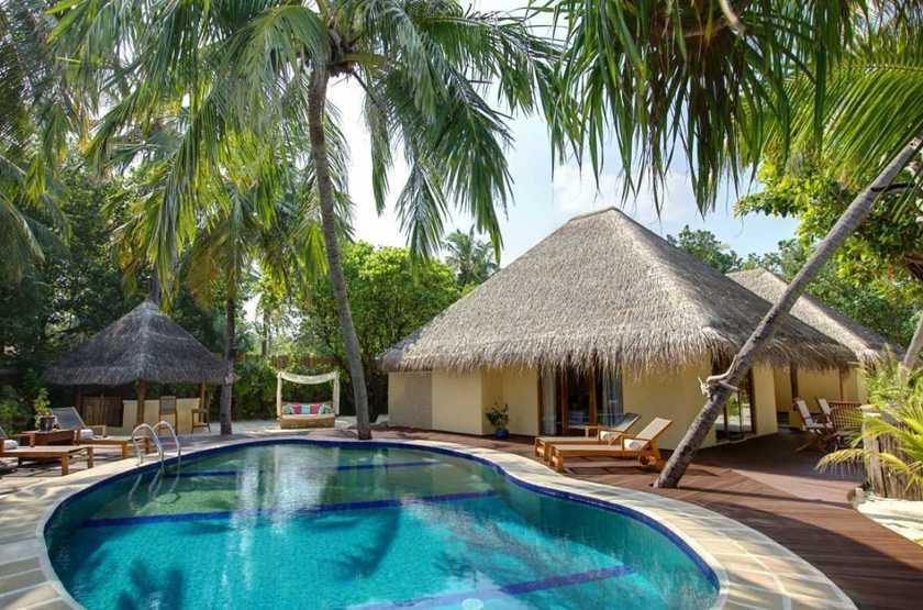 Kanuhura Hotel, Maldives, villa avec piscine