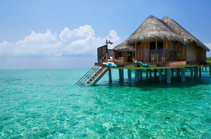 Kanuhura Hotel, Maldives, water bungalow