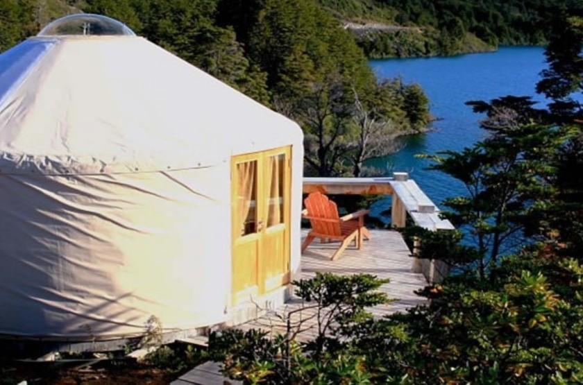Yurt and blue lake1 slideshow