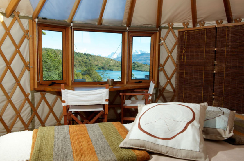 Patagonia Camp, Torres del Paine, Chili, chambre vue lac