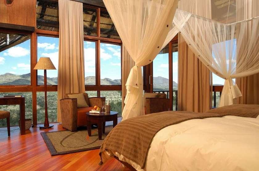 Goche Ganas Nature Réserve et le Wellness Village , Namibie, chambre avec vue