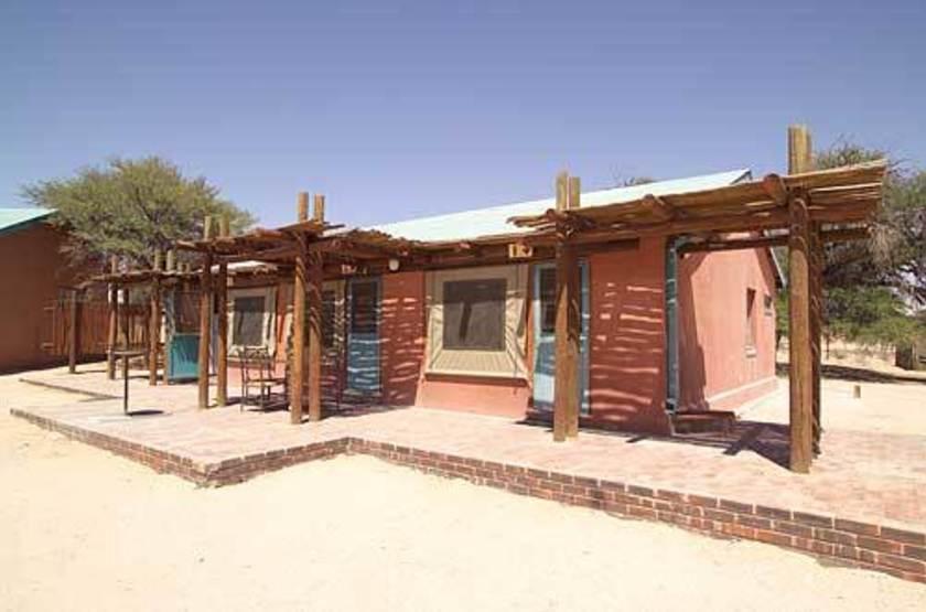 Mata Mata Rest Camp, Kgalagadi Transfrontier Park, Afrique du Sud, chalet