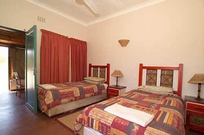 Mata Mata Rest Camp, Kgalagadi Transfrontier Park, Afrique du Sud, chambre