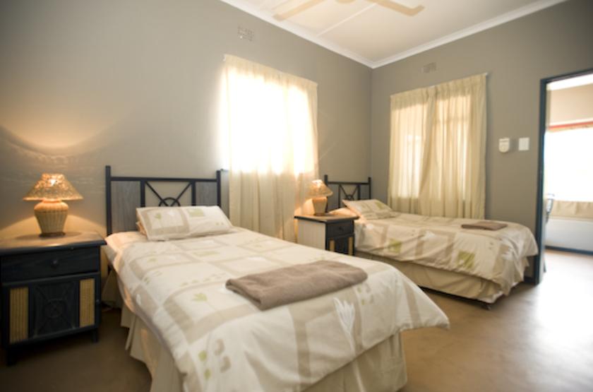 Nossob Rest Camp, Kgalagadi Transfrontier Park, Afrique du Sud, chambre