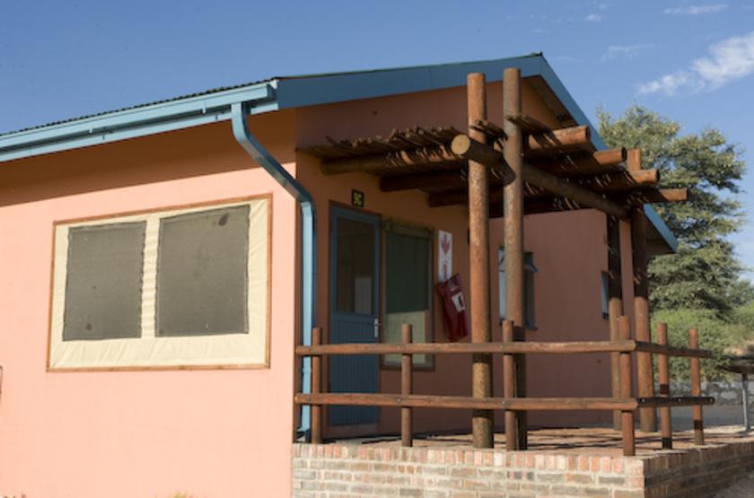 Nossob Rest Camp, Kgalagadi Transfrontier Park, Afrique du Sud, chalet