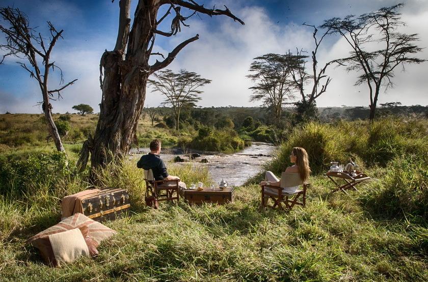 Segera Retreat, Laikipia, Kenya, en brousse
