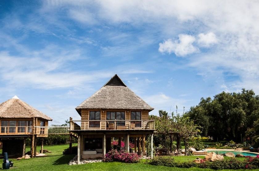 Segera Retreat, Laikipia, Kenya, villa sur pilotis