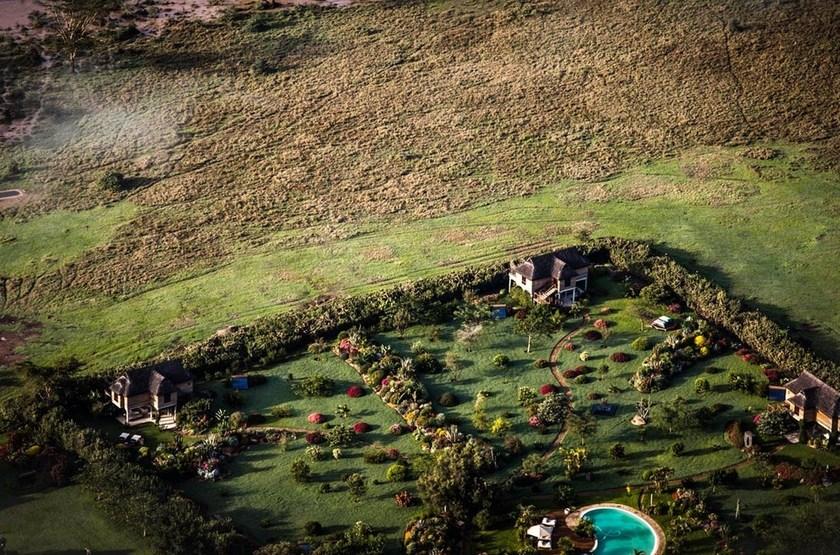 Segera Retreat, Laikipia, Kenya, vue aérienne