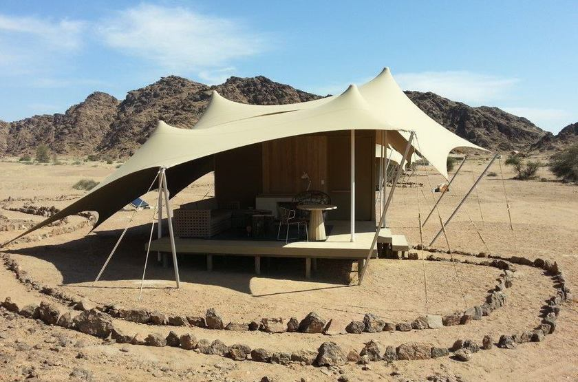 Hoanib Skeleton Coast Camp, Namibie, tente