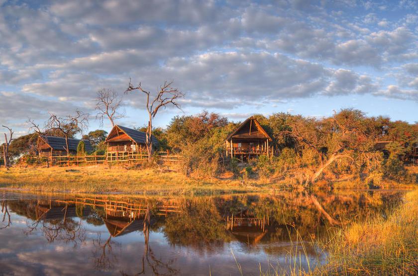 Belmond Savute Elephant Lodge, Chobe Park, Botswana, vue sur le camp