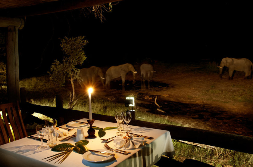 Belmond Savute Elephant Lodge, Chobe Park, Botswana, dîner