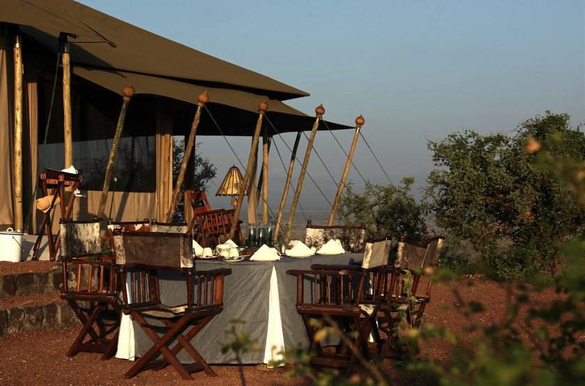 Shu'Mata, South Amboseli, Tanzanie, tente mess