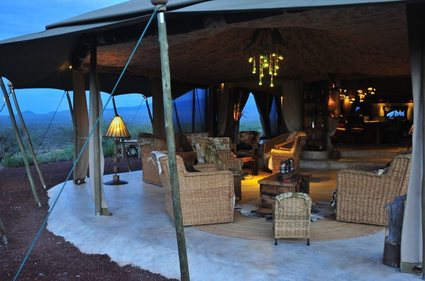 Shu'Mata, South Amboseli, Tanzanie, terrasse