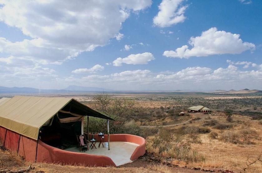 Shu'Mata, South Amboseli, Tanzanie, extérieur tente