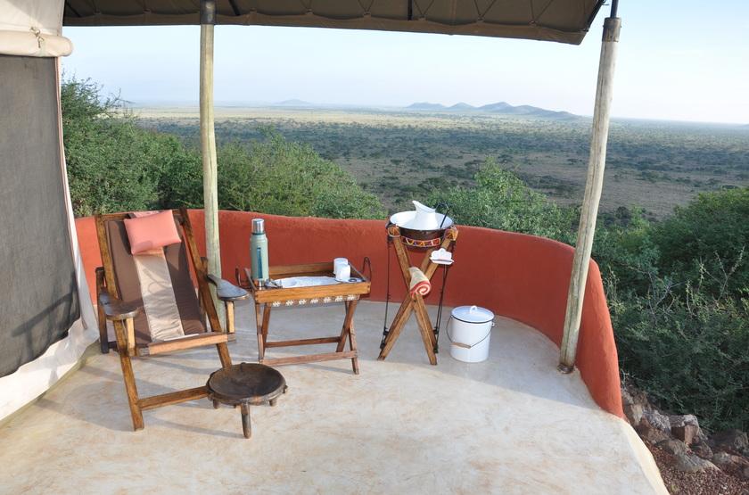Shu'Mata, South Amboseli, Tanzanie, terrasse tente