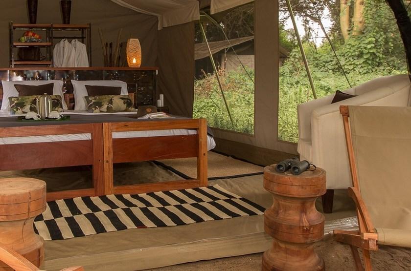 Namiri Plains, Serengeti, Tanzanie, tente