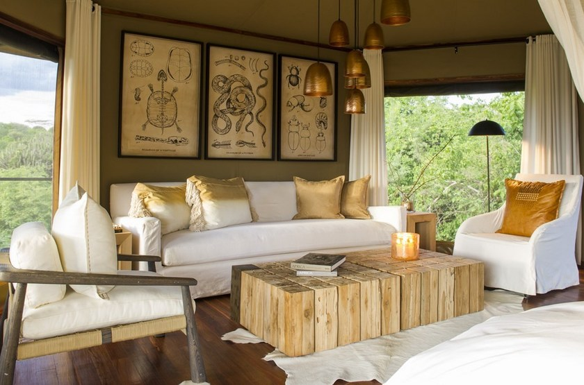 Mwiba Lodge, Réserve privée Serengeti, Tanzanie, salon suite