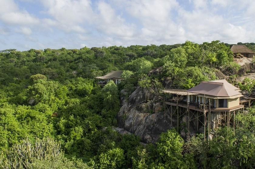 Mwiba Lodge, Réserve privée Serengeti, Tanzanie, vue extérieure