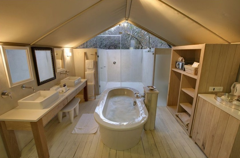 Kapama Karula, Afrique du Sud, salle de bains