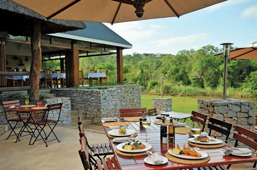 Hippo Hollow Country Estate, Hazyview, Afrique du Sud, terrasse