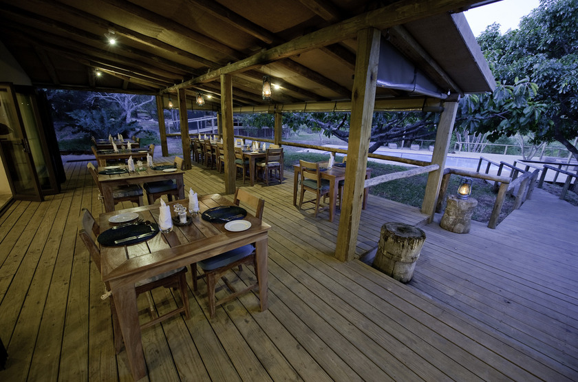 Rocktail Beach Camp, Maputaland, Afrique du Sud, restaurant
