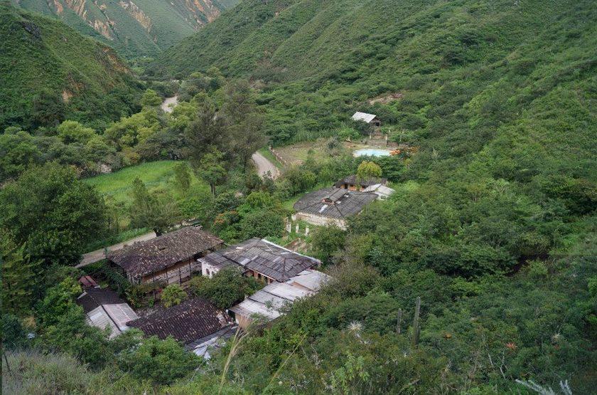 Estancia El Chillo Kuelap, Pérou, vue aérienne