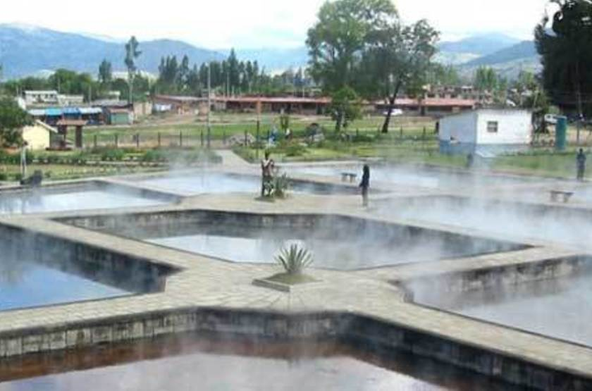 Laguna Seca Cumbemayo, Cajamarca, Pérou, bains termals