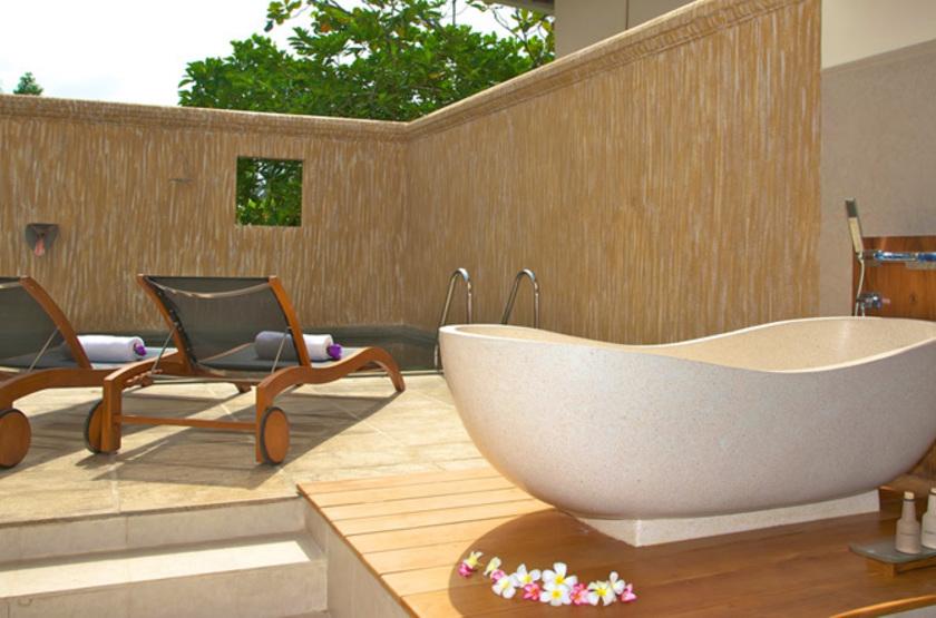 Saman Villas, Sri Lanka, salle de bain extérieure