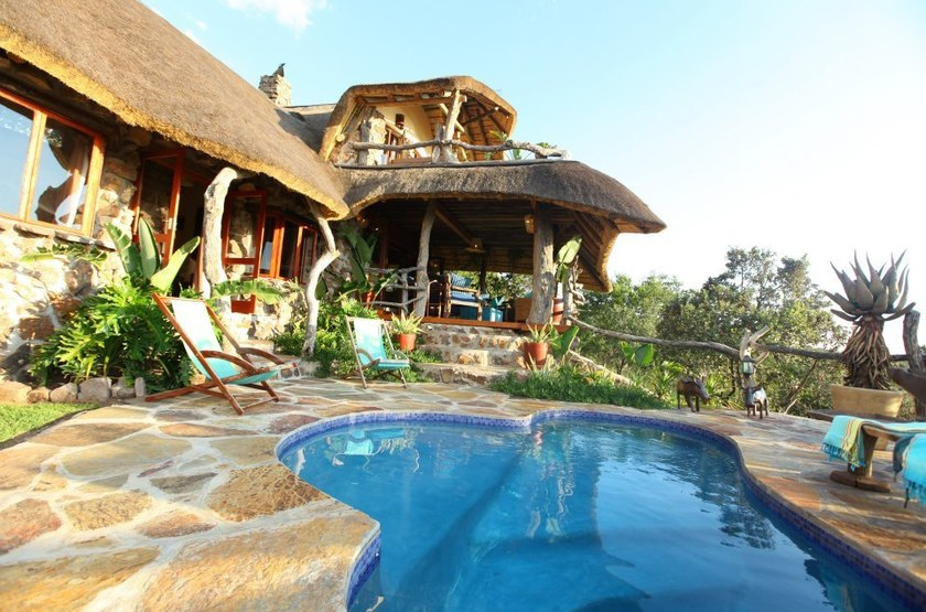 Ant's Hill and Ant's Nest, Waterberg, Afrique du Sud, piscine
