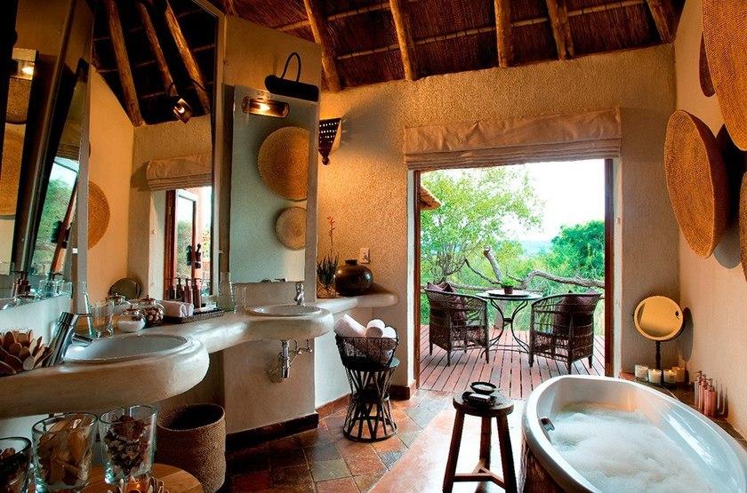 Madikwe Hills, Afrique du Sud, salle de bains