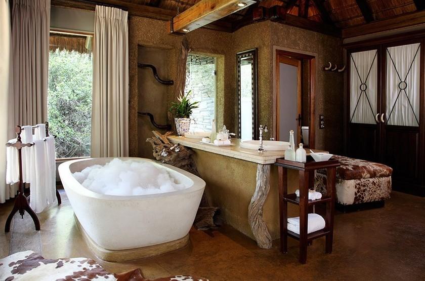 Camp Jabulani, Kapama, Afrique du Sud, salle de bains