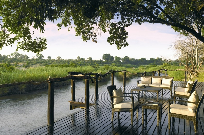 Lion Sands River Lodge, Sabi Sand, Afrique du Sud, terrasse