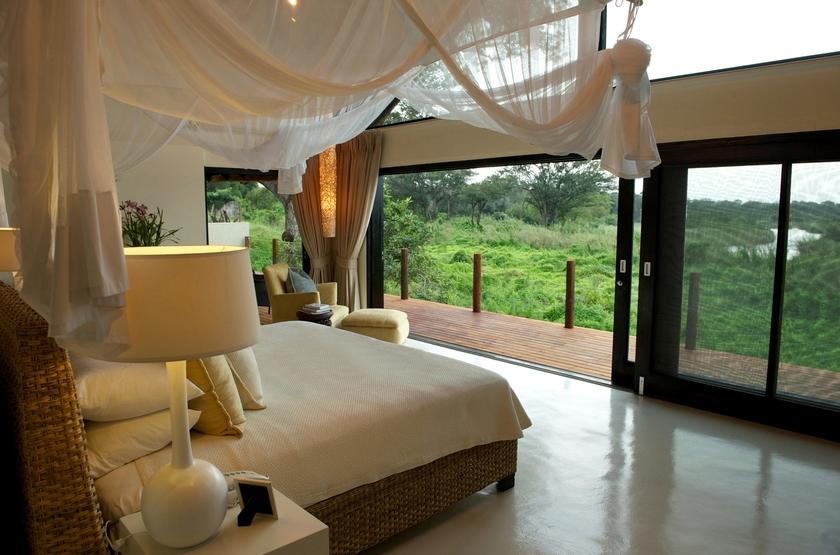 Lion Sands River Lodge, Sabi Sand, Afrique du Sud, chambre